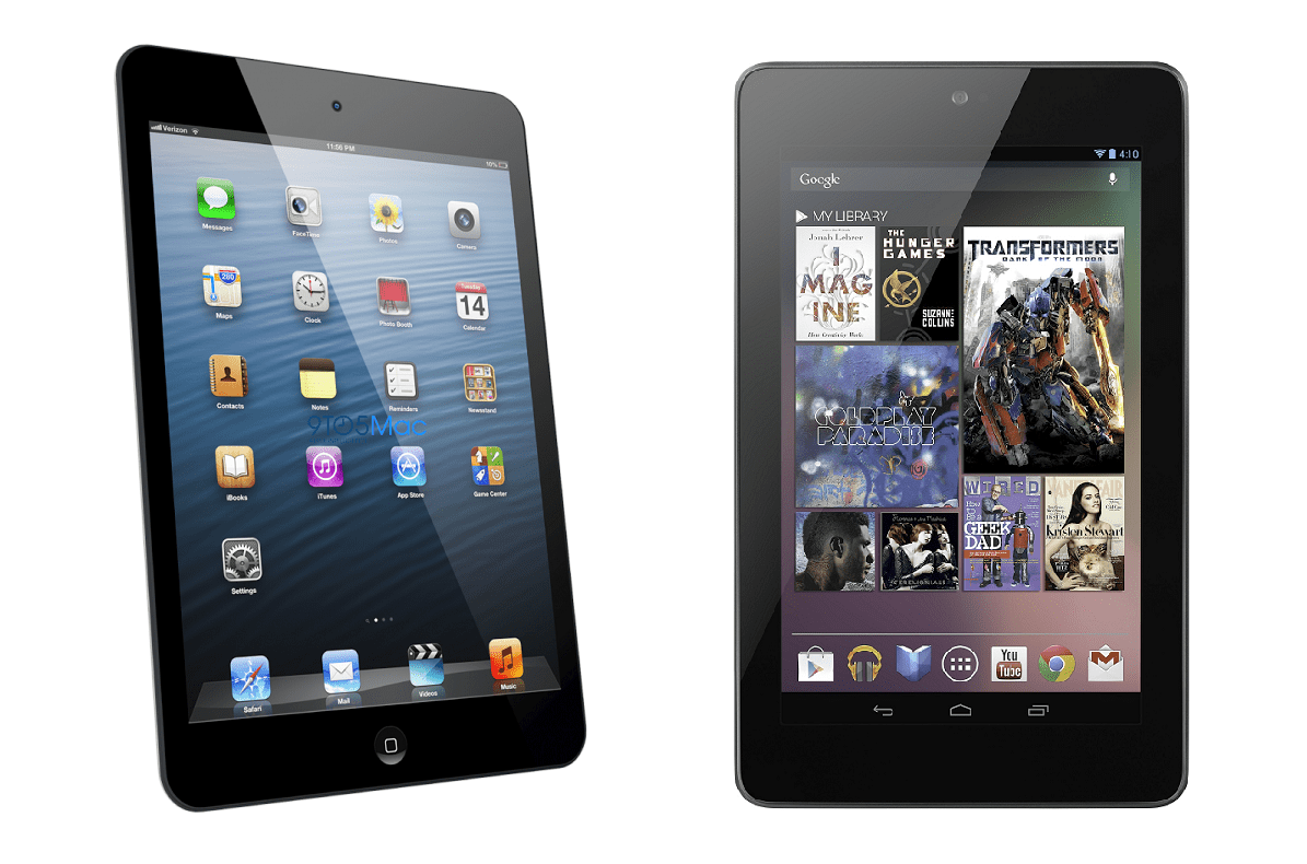 nexus 7 vs ipad 4
