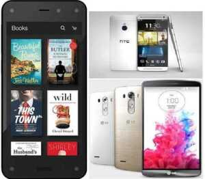 LG G3 vs HTC One M8 vs Amazon Fire Phone