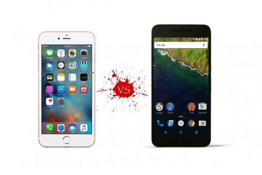 Google Nexux 6P vs. Apple iPhone 6S Plus