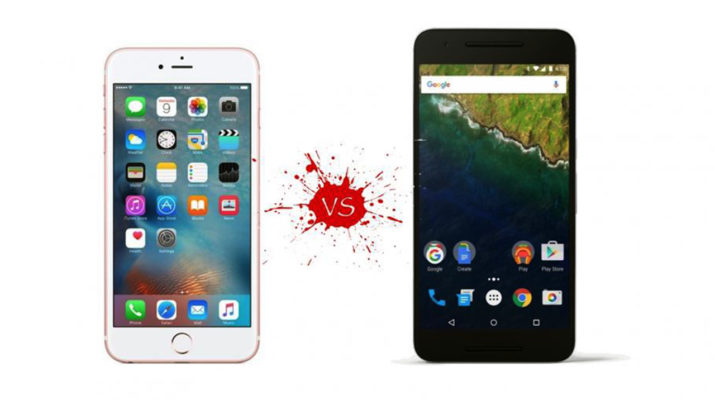 Google Nexux 6P vs. Apple iPhone 6S Plus