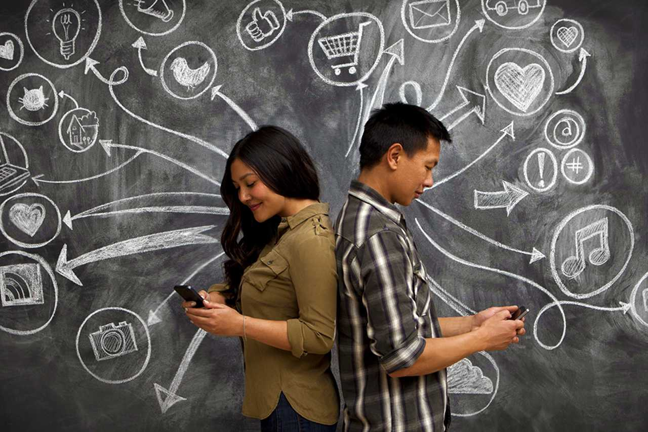 Social media, relationships, interactions, less social contact, long distance relationships