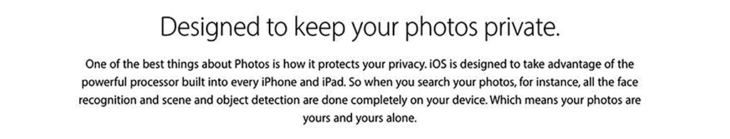 Apple's photo recognition software, brassiere