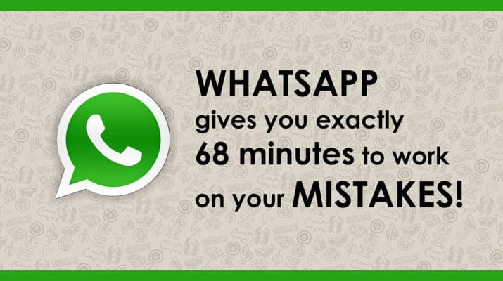 WhatsApp to Modify Its 'Delete for Everyone' Feature