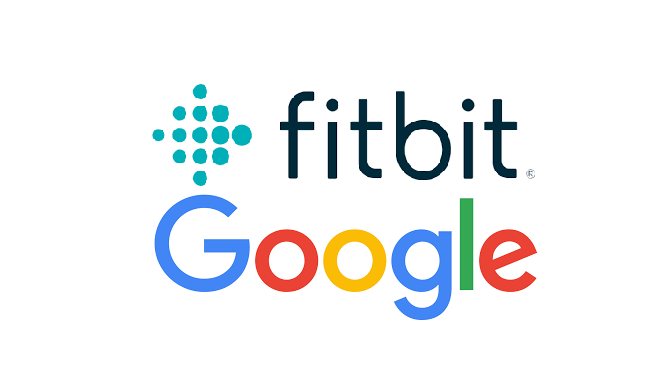Logos of Google and Fitbit
