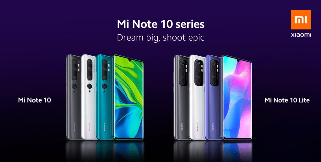Xiaomi Mi Note 10 vs. Mi Note 10 Lite