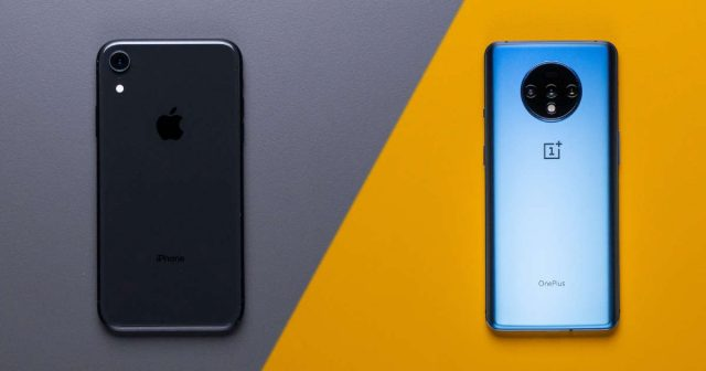 Comparison of iPhone XR vs OnePlus 7T