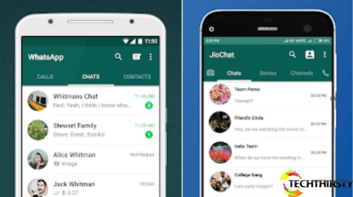 JioChat looks almost like WhatsApp