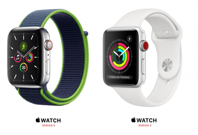 apple watch 5 series vs 3 series