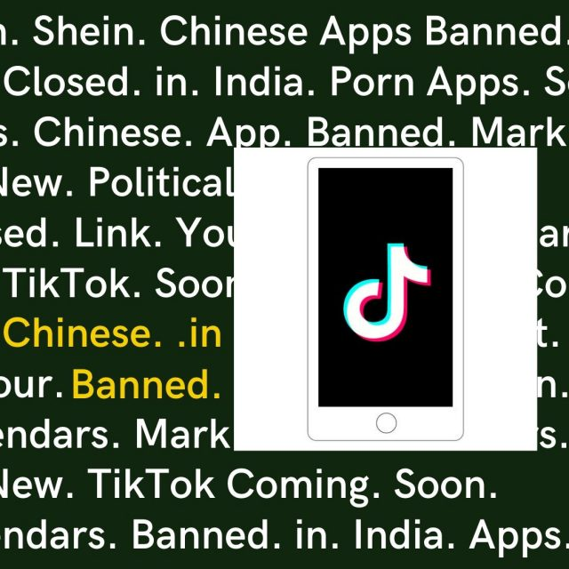 why tiktok is banned in India