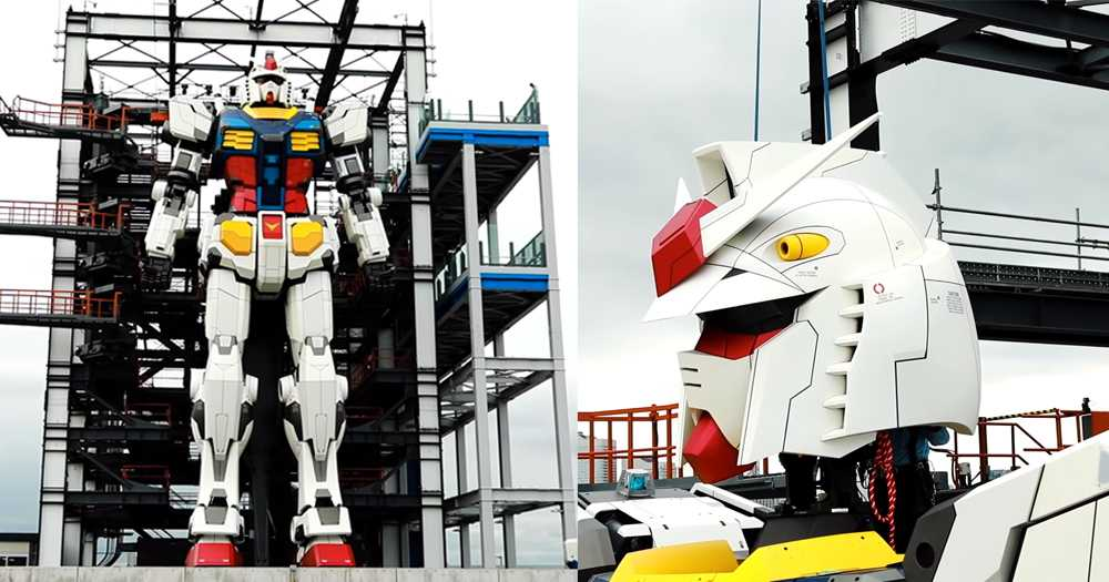 Giant Gundam Robot Now Stands 59 Ft Tall In Japan