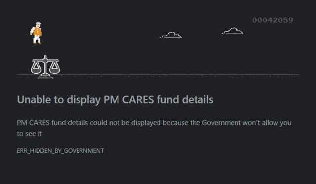 PM Cares Fund Game