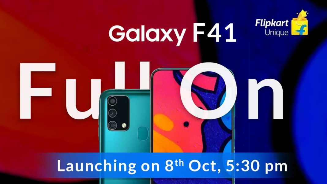 Samsung Galaxy F41 To Go On Sale Samsung F41 Price In India