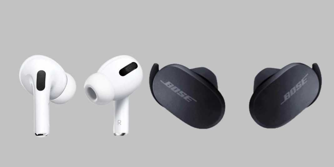 Bose QC Earbuds vs. Airpods Pro