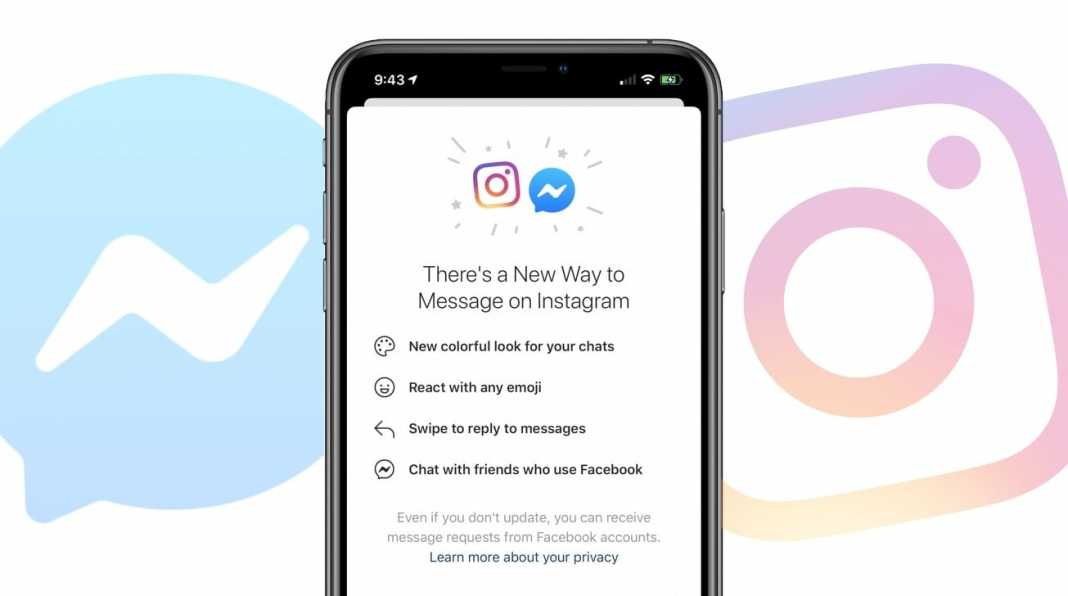 Facebbok Integrates Instagram Messenger Chat