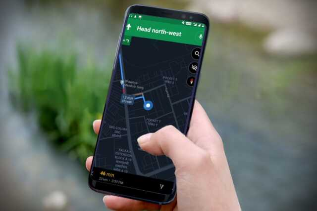 dark mode on google maps 1