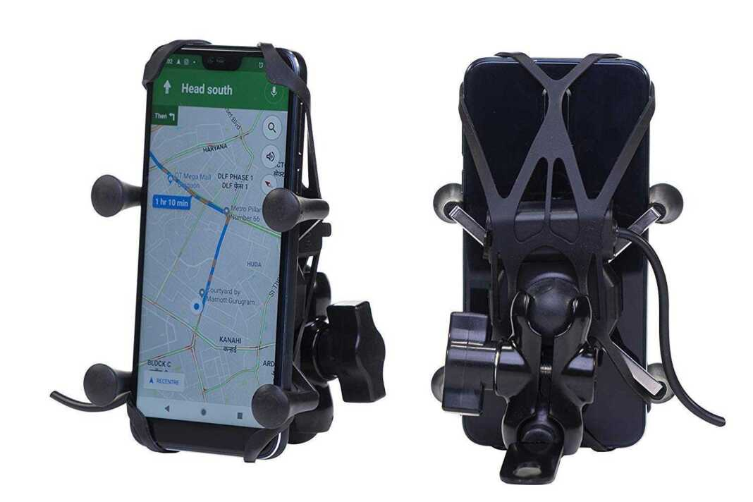 mobile holder with charger for bike
