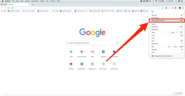 Incognito Mode in Google Chrome