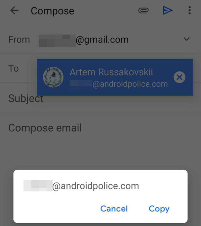 New Button For Gmail in Android 2