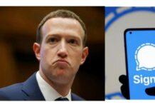Mark Zuckerberg uses signal