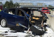 Tesla Without Driver Car Accident