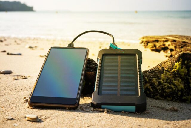 Use eco-friendly solar-powered charger