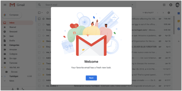 Gmail new update
