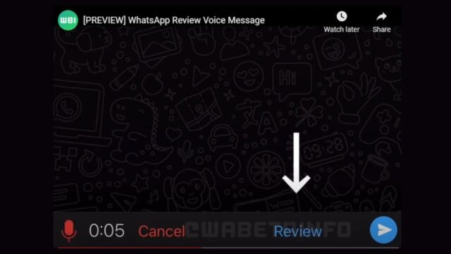 Whatsapp review tool for voice messages 1