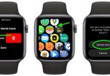 delete apps on apple watch