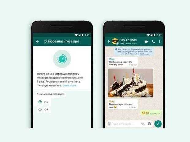 whatsapp disappearing messages feature 1