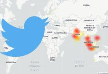 Twitter india map