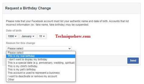 facebook date of birth change after limit 2