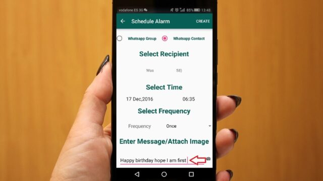 schedule WhatsApp messages on Android and iOS 2