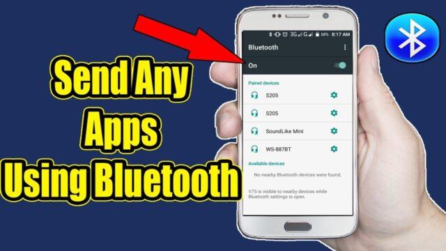 send apps via bluetooth 1