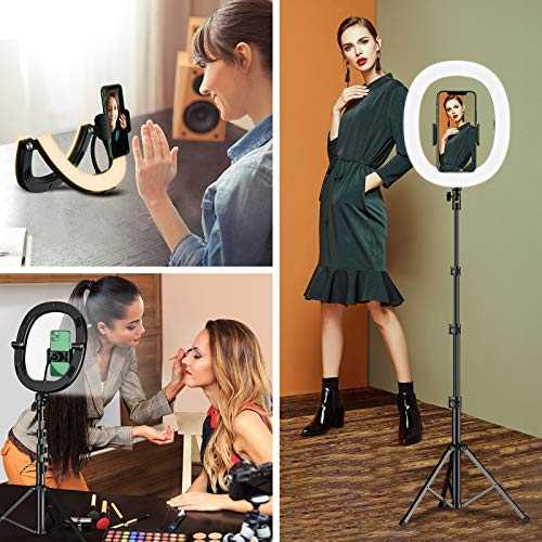 Bcway 10.2-inch Selfie Ring Light