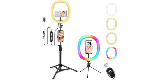 GerTong RGB Ring Light with Stand
