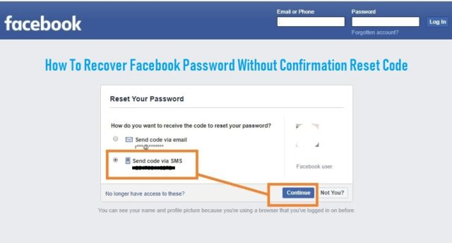 How to Recover Facebook Password without Confirmation Reset Code 2