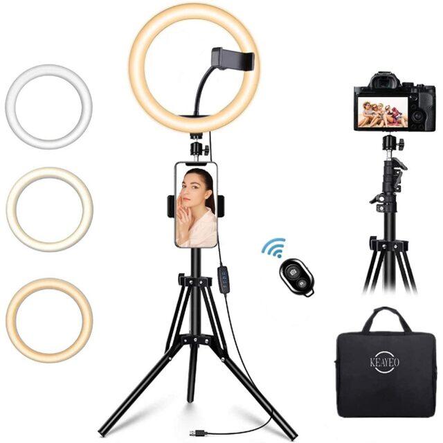 Keayeo 12-inch Selfie Ring Light