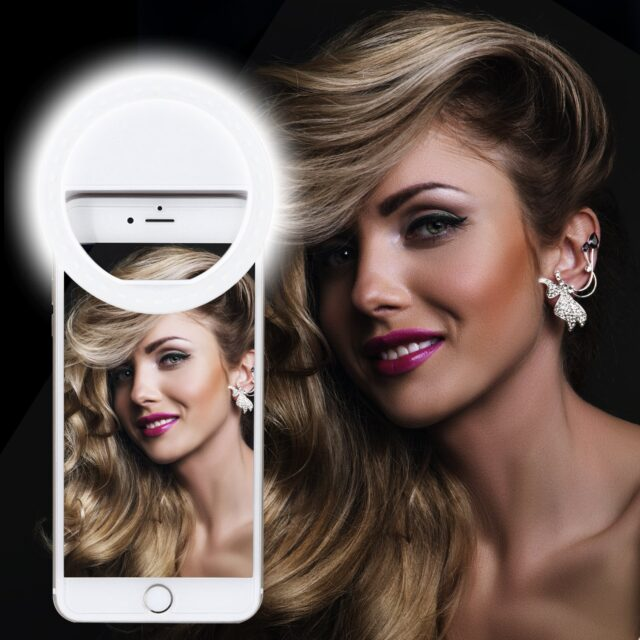 Xinbaohong Rechargeable Portable Clip-on Selfie Ring Light