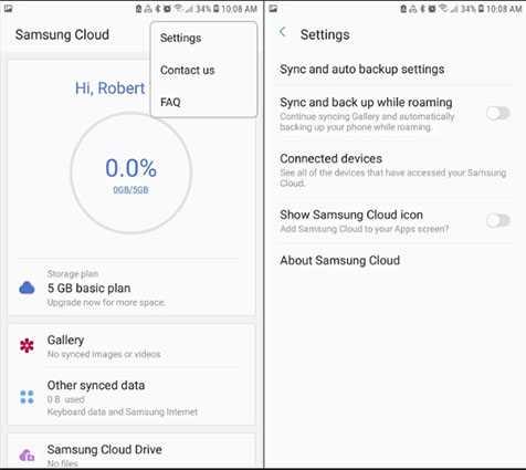 retrieve photos from Samsung Cloud 2