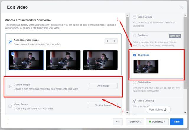 change thumbnail of Facebook video 2