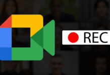 record google meet and save in Google Drive