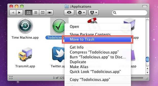 uninstall apps on mac 1