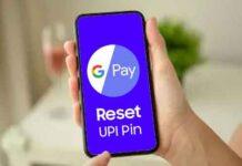 reset upi pin in google pay